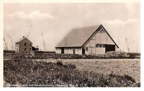 In 1949 and 1950, the first batch of 121 prefab barns were being constructed for arable farms.