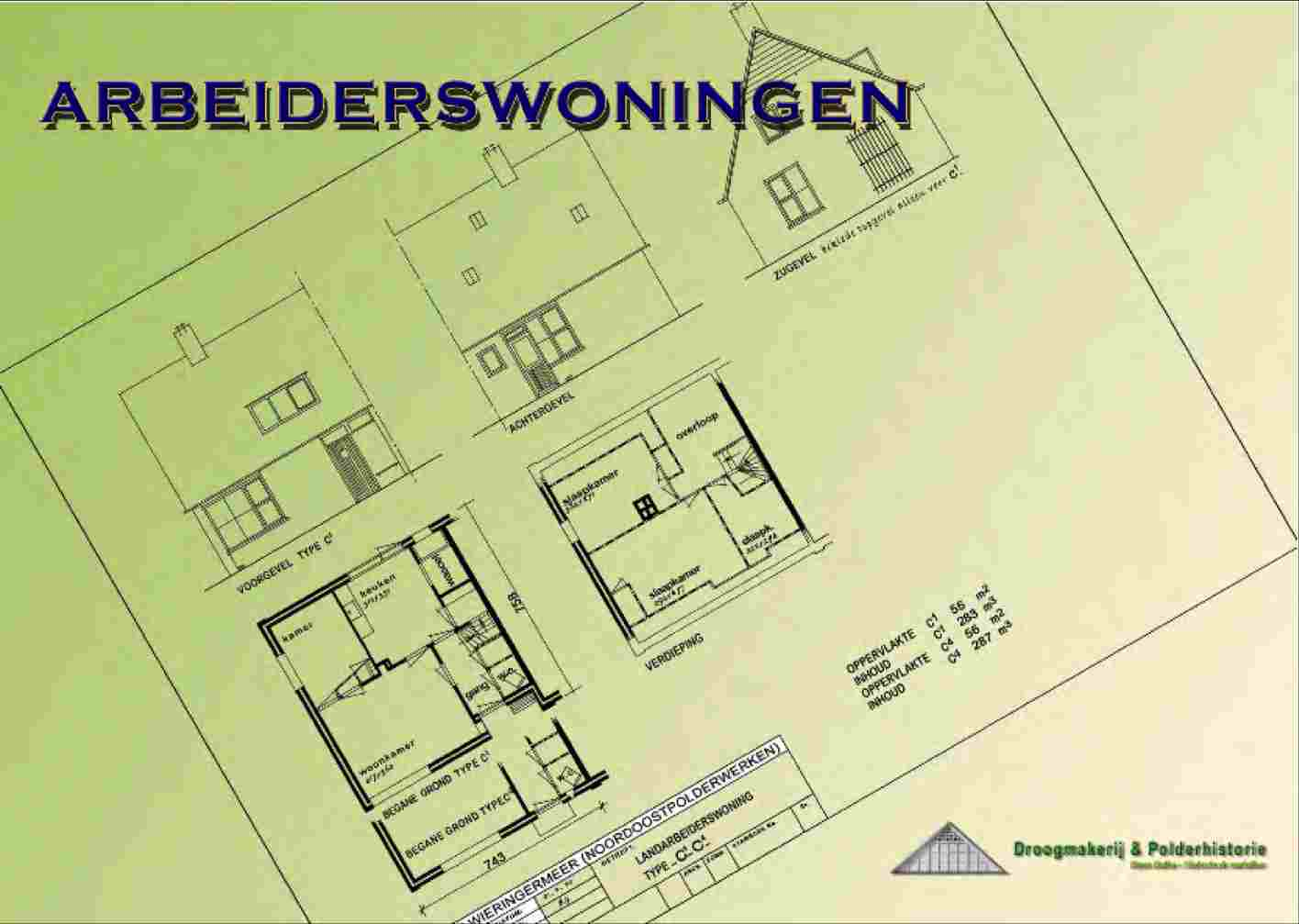 Floorplan of workers' houses.
