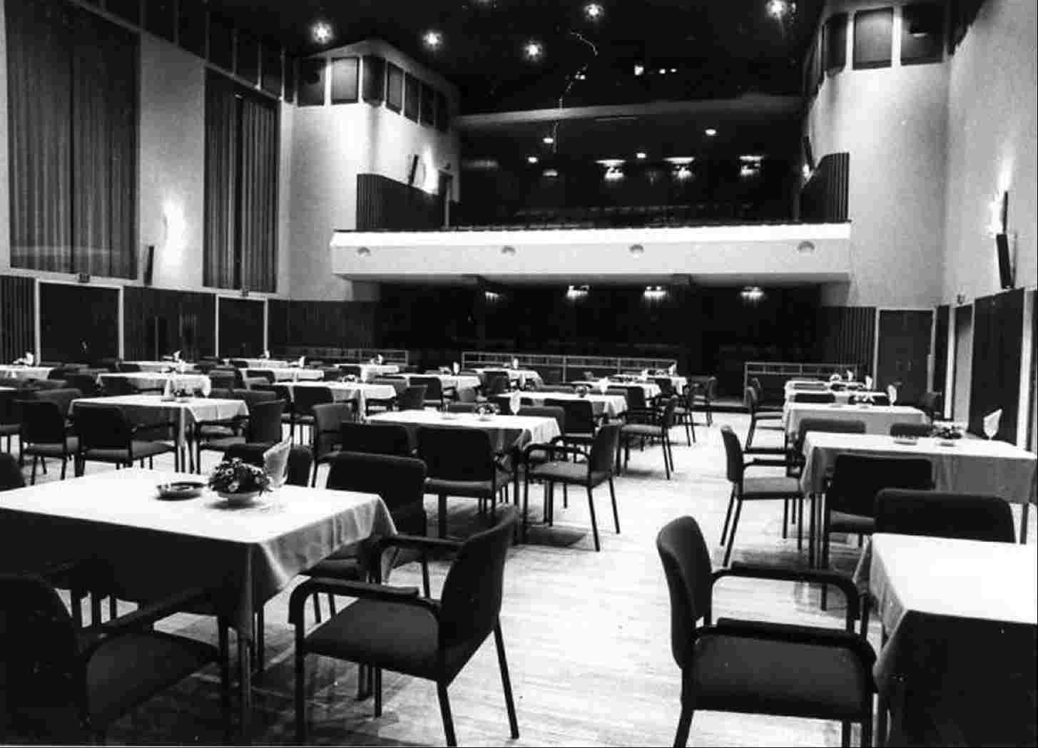 Interior of the auditorium of 't Voorhuys, 1991