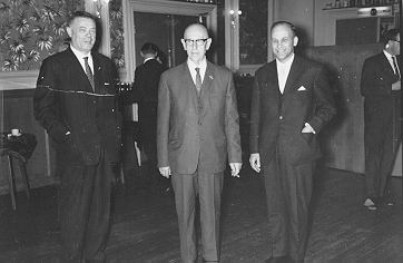 from left to right, mr Minderhoud, Smeding and Otto, 1964